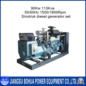 Business Industrial 113kVA Diesel Generating Set Powered by Sinotruk Engine