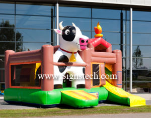 Hot Sale Inflatable Cow Bouncy Castles, High Quality Inflatable Bouncer, Bouncy Castles pictures & photos