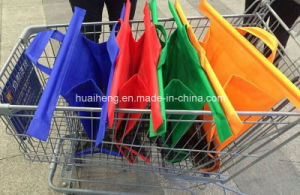 Shopping Grocery Bag for Supermarket Trolleys Carrier Non Woven Bag pictures & photos