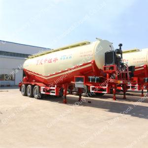 V Shape Powder Material Tri-Axle Bulk Cement Tank Semi Trailer for Sale pictures & photos
