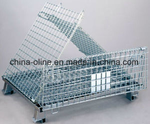 Steel Wire Basket/Stackable Folded Wire Mesh Container pictures & photos