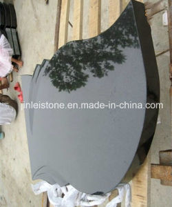 Shanxi Black Granite Tombstone Slab for Hungary Market pictures & photos