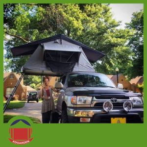 Grey Roof Top Tent with Black Rain Fly pictures & photos