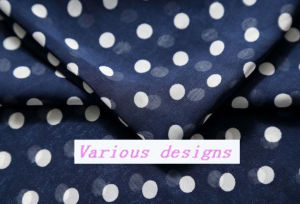 Fashionable Polk DOT Printed Polyester Chiffon Dress Fabric pictures & photos