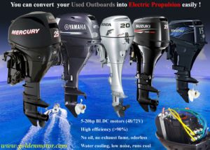 3HP, 6HP, 10HP, 15HP, 20HP, 30HP Electric Boat Outboard Motor Kit pictures & photos