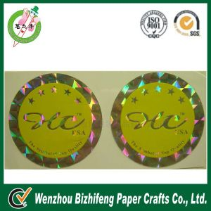 Customized Round Hologram Foil Sticker