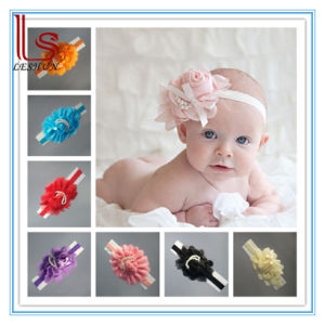 Hot Style Wholesale Infant Baby Children Pearl Large Flowers Hair Headbands pictures & photos