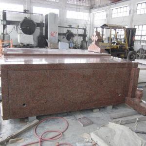 Red Granite 3 Person Crypt Cremation Mausoleum pictures & photos