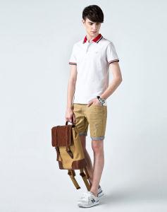 Design Plian Mens White Polo Shirt pictures & photos