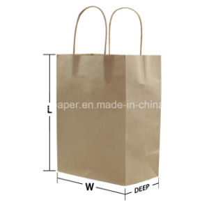 Good Quality Kraft Paper Bag with Handle pictures & photos