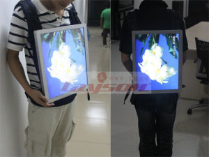 Backpack LCD Panel Advertising Viodeo Player with Bag LCD Panel Display Digital Signage pictures & photos