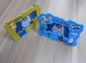 3D Iraq Soft PVC Baby Photo Frame, Iraq Souvenir Gifts PVC Photo Frame pictures & photos