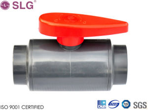Durable PVC Plastic Two-Piece Ball Valve pictures & photos