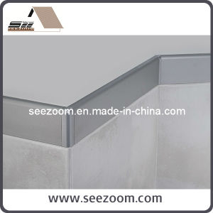 Silver Aluminum / Aluminium Floor Skirting Board