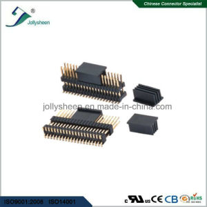 Pin Header Pitch 0.8mm   Dual Row Dual Insulators   SMT Type pictures & photos