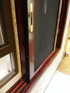 Energy-Saving Woodgrain Aluminum Sliding Window (BHA-SW34) pictures & photos