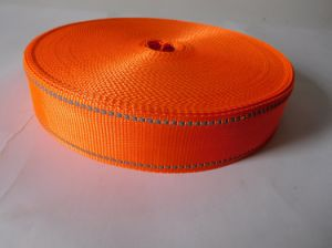 35mm Orange Polyester Webbing for Garment Accessories pictures & photos
