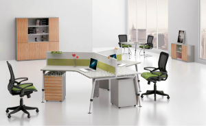 Modern Small Office Cubicle 120 Degree Workstation Furniture (HF-A19) pictures & photos