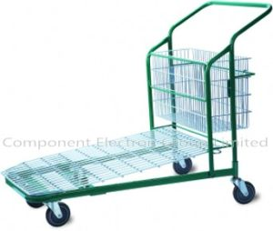Heavy Duty Commercial Shopping Basket Trolley, Flat Trolley, Metal Shopping Flat Trolley pictures & photos
