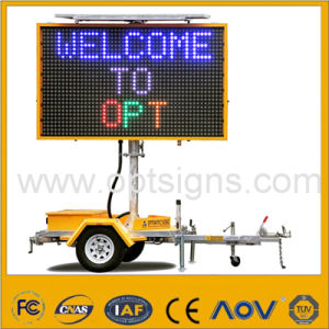Optraffic Solar Power Portable Variable LED Display Traffic Vms Trailer pictures & photos