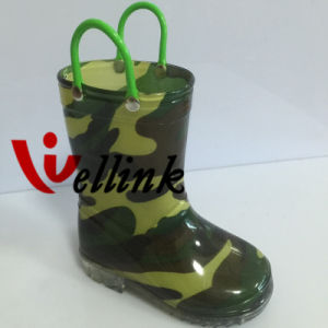 Kids Fashion Style Rubber Rain Boots pictures & photos
