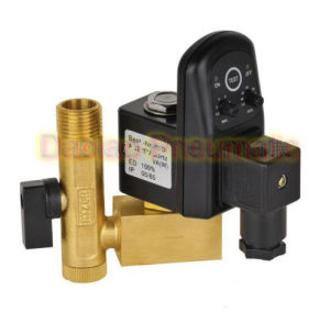 High Quality 1/2′′ Electric Drain Valve with Timer and Brass Tube Fitting 24-230V Edv-15 W Tube pictures & photos