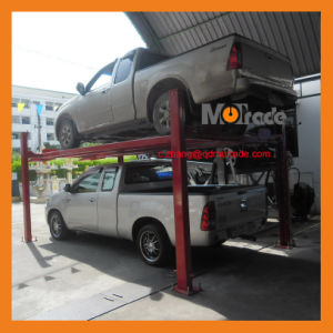 2 Vehicles Automobiles Hydraulic Motor Four Post Garage Parking Equipment pictures & photos