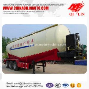 Qilin Tri-Axle 50cbm Grain Powder Transport Utility Tanker Truck Semi Trailer pictures & photos