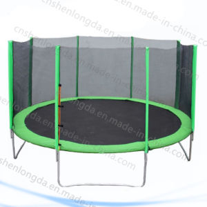 Customized Outdoor Fitness Round Trampoline with Safety Net pictures & photos