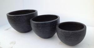 Outdoor Round Garden Pot with Rough Surface
