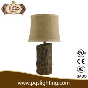 Tree Stump Design Resin Decoration Table Lamp (P0096TA)