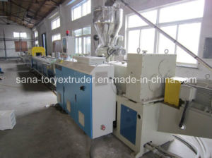 Rigid Plastic PVC Profile Extruder Machine pictures & photos