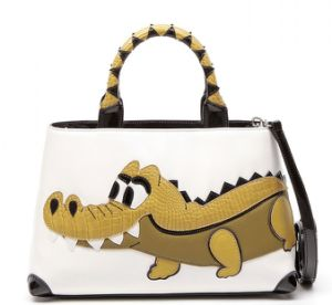 2016 Crocodile Splice Hit Color Tote Bags Leather Handbags (LDO-16096) pictures & photos