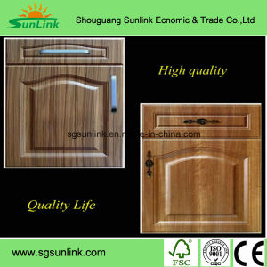 Kitchen Furniture PVC Film MDF Kitchen Cabinet Door pictures & photos