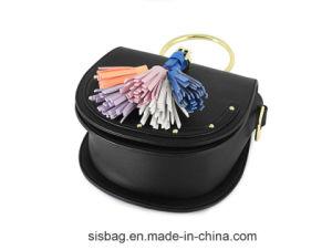 New Fashion PU Tassel Mini Satchel Bag Saddle Handbag with Metal O Ring pictures & photos