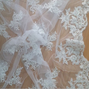 Perfect Beaded Bridal Lace for Wedding Dress
