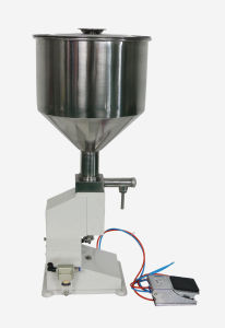 5~50ml Pneumatic Filling Machine for Cream & Shampoo & Cosmetic pictures & photos