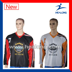 Healong Custom Sportswear OEM Dye Sublimation Ice Hockey Jersey pictures & photos