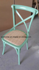Beech Wood X Cross Back Chair pictures & photos