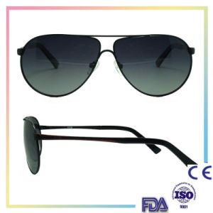 2016 Black Metal Fashion Sunglasses with Custom Logo pictures & photos