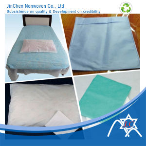 Disposable Nonwoven Bed Sheet, Pillow Cover, Hair Dressing Towel pictures & photos