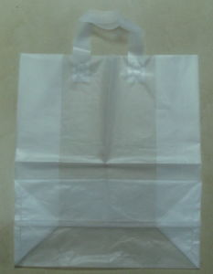 HDPE Gusset Loop Handle Carrier Bags for Supermarket (FLL-8363) pictures & photos