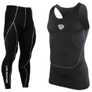 Wholesale Lycra Compression Tight Gym Suit AMD34 pictures & photos