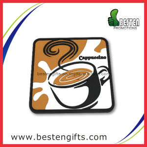Factory Supply Custom Soft PVC Tea Cup Coaster (PC0004)