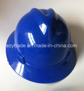 Construction Msa Full Birm Safety Helmet with Ce En 397 Certification pictures & photos