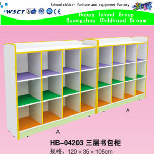 Cheap Wooden Kids Schoolbag Ark Classroom Cabinet Storage (HB-04203) pictures & photos