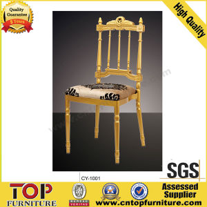 Crown Golden Aluminum Fixed Cushion Napoleon Chair pictures & photos