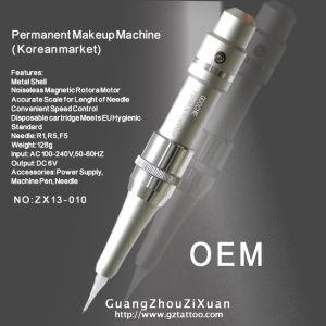 Permanent Makeup Rechargeable Tattoo Machine New (ZX13-10) pictures & photos