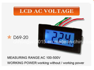 D69-20 AC 100-500 V LCD AC Digit Panel Voltage Meter pictures & photos