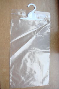 Unprinted Adhesive Bags with Hanger for Garments (FLH-8708) pictures & photos